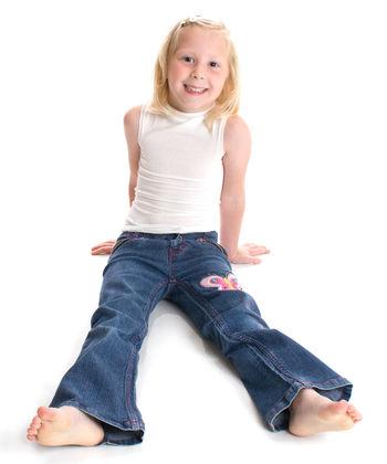 Sleeveless vest in white silk for boys and girls