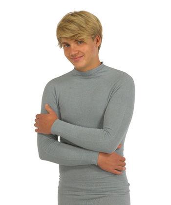 Long sleeved top in silk for men