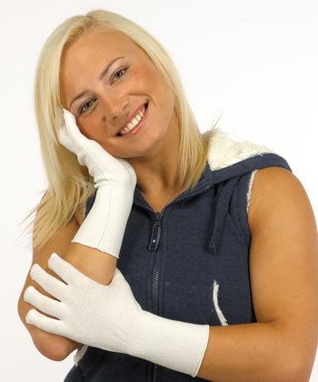 Gloves in silk for women